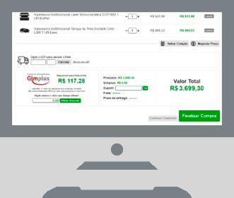 Tela de visualização CashBack